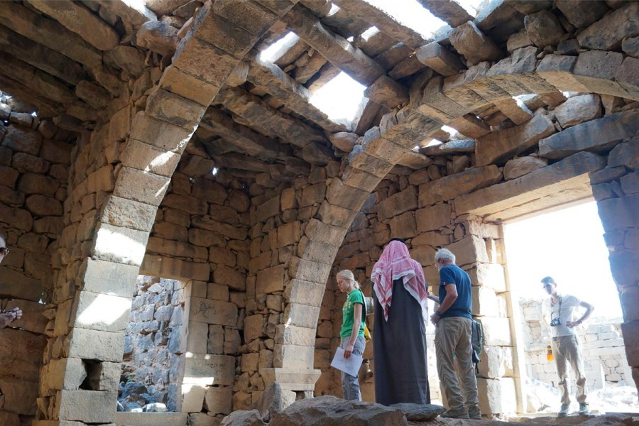 Inside the 'Nabataean' Temple